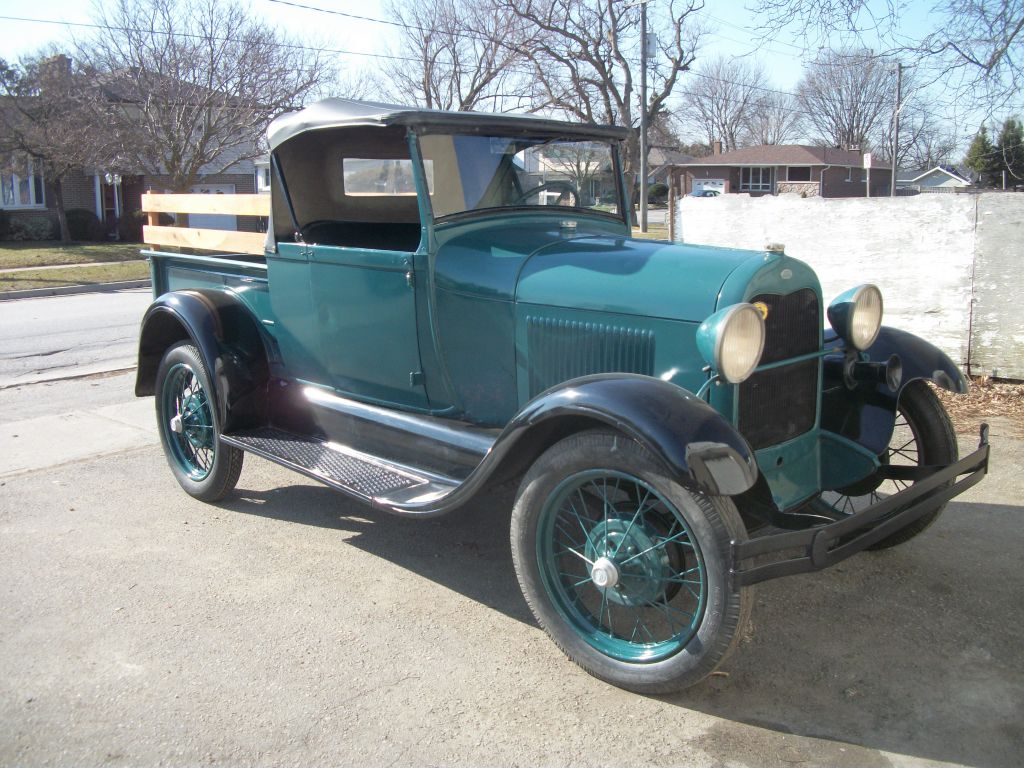 1929 Ford Model A Roadster Pickup - Fawcett Motor Carriage Company